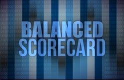 在数字式屏幕上的平衡的计分卡,事务 向量例证