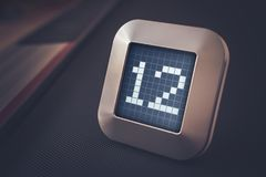 在数字式日历、温箱或者定时器的第12 库存图片