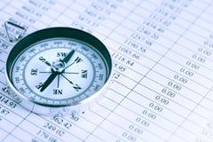 在数字的指南针 免版税图库摄影