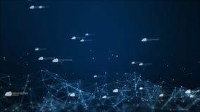 在数字网际空间的云彩象,技术网络连接概念 库存例证