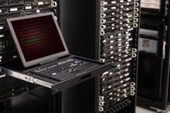在数据中心背景IT事务的网络服务系统 库存照片