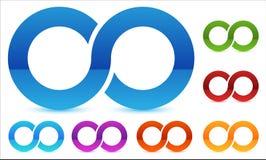 在数的无限标志上色 连续性的,圈,末端象 皇族释放例证
