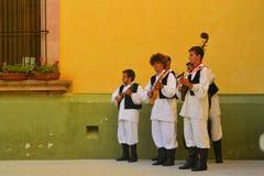 在文化的节日的保加利亚舞蹈小组 库存照片