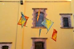 在文化的节日的意大利旗子表现 库存照片