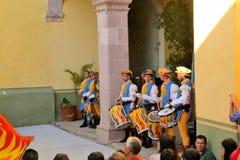 在文化的节日的意大利旗子表现 免版税库存图片