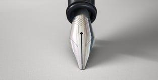 在文字位置的钢笔 免版税库存照片