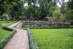 在文学里面寺庙的公园  免版税库存照片