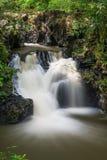 在斗湖小山公园的瀑布 免版税库存图片