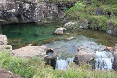在斯凯岛小岛的神仙水池  免版税库存照片