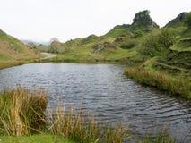 在斯凯岛小岛的神仙的幽谷  库存照片