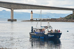 在斯凯岛桥梁的亚特兰提斯航行 免版税库存照片