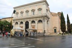 在斯卡拉圣诞老人的看法在罗马,意大利 图库摄影
