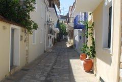 在斯基亚索斯岛海岛,希腊上的斯基亚索斯岛镇 免版税库存照片