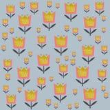 在斯堪的纳维亚样式传染媒介例证的花卉样式 免版税库存照片