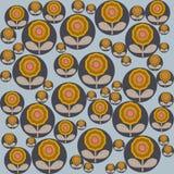 在斯堪的纳维亚样式传染媒介的无缝的花卉样式 免版税库存照片