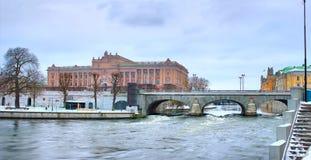 瑞典议会在斯德哥尔摩 免版税图库摄影