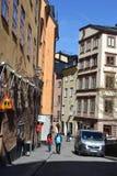 在斯德哥尔摩的公担零件的街道 库存照片