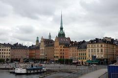 在斯德哥尔摩的看法 免版税库存图片