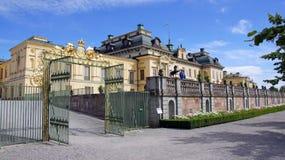 在斯德哥尔摩附近的卓宁霍姆宫在瑞典 库存照片