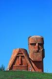 在斯捷潘纳克特附近的著名纪念碑 图库摄影