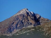 在斯洛伐克在秋天的高Tatras的Krivan峰顶 库存图片