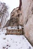 在斯洛伐克,历史纪念碑堡垒的Orava城堡 图库摄影