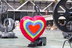 在斯特拉文斯基喷泉巴黎的心脏 库存图片