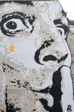 在斯特拉文斯基喷泉的大理壁画 库存照片