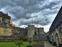 在斯特灵城堡的一多云天,苏格兰 免版税库存图片