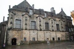 在斯特灵城堡的外面关闭在苏格兰 图库摄影