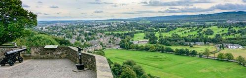 在斯特灵城堡,苏格兰的历史的大炮 库存图片