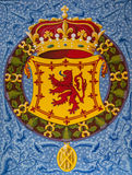 斯特灵城堡象征 免版税库存照片