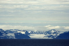 在斯瓦尔巴特群岛视图附近 免版税库存图片