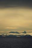 在斯瓦尔巴特群岛视图附近 图库摄影