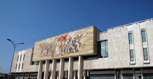 在斯甘德伯广场,地拉纳附近的国家历史博物馆 库存照片