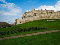 在斯皮城堡里面废墟,斯洛伐克 免版税库存图片