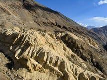 在斯皮迪谷,喜马偕尔邦Moonland表面 图库摄影