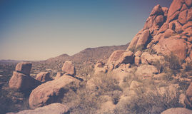在斯科茨代尔亚利桑那,美国附近的沙漠风景 图库摄影