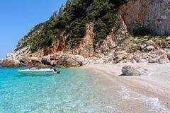 在斯科派洛斯岛,希腊海岛上的海滩  库存图片