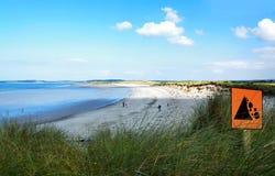 在斯莱戈,爱尔兰的海滩 库存照片