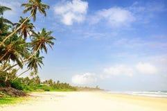 在斯里兰卡的海滩 图库摄影