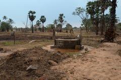 在斯里兰卡的遥远的部分的井水 免版税库存图片
