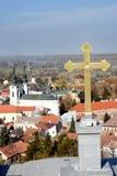 在斯雷姆斯基卡尔洛夫奇,塞尔维亚的一个看法 免版税库存图片