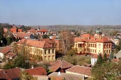 在斯雷姆斯基卡尔洛夫奇,塞尔维亚的一个看法 免版税库存照片