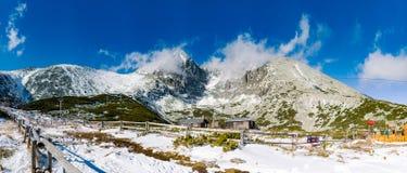 在斯洛伐克的高Tatras山的Lomnicky Stit 库存照片