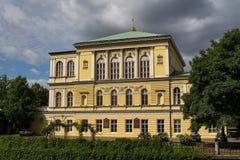 在斯洛文尼亚海岛上的宫殿在布拉格 库存照片