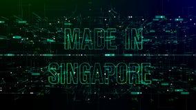 在新加坡与'做的'网际空间的动画文本的 向量例证