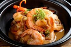 在新加坡样式的虾 免版税库存图片