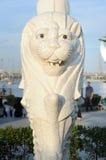 在新加坡Merlion公园的小Merlion 免版税库存图片