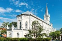 在新古典主义的样式的老教堂 免版税库存图片